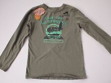 J CREW Crewcuts Long Sleeve Tee T-Shirt Boys 10 Wilderness Scout Patches