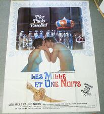 Affiche de cinéma : LES MILLES ET UNE NUITS de Pier Paolo PASOLINI