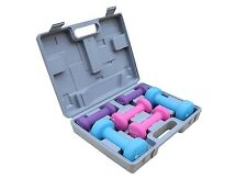 Gymenist Dumbbell Set With Hard Plastic Case Includes 3 Pairs And A Hard Travel