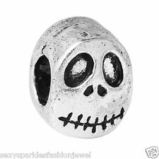 Nightmare Before Christmas Halloween Skull Charm-3696