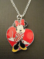 "FREE GIFT ** Beautiful Enamel ""Minnie Mouse"" PENDANT W/16"" CHAIN NECKLACE"