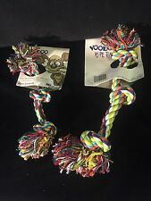 New (2)  Dog Rope Chew Puppy Toys For Tug A War & CLEANING TEETH Lot Of 2