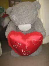 2 foot plus Tatty Teddy Bear holding large heart 'I love you'
