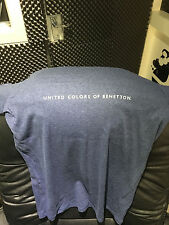 Blue United Colours Of Benetton Tight Fitting Top Mens Or Womens Unworn Size M