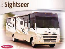 2011 Winnebago Sightseer Motorhome Camper Original Car Sales Brochure Catalog