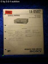 Sony Service Manual TA D507 Amplifier  (#1557)