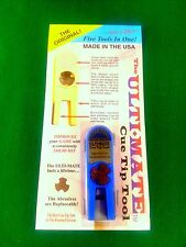 NEW BLUE ORIGINAL ULTIMATE TIP TOOL - ULTI-MATE POOL CUE TIP SHAPER SCUFFER