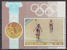 Ajman 1972 ** Bl.77A Olympische Spiele olympic games tandem