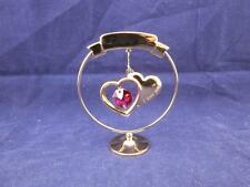 Crystocraft Free Standing Loving You Hearts with Strass Swarovski Crystal.