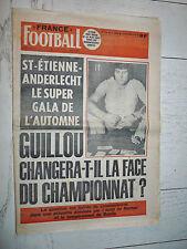 FRANCE FOOTBALL 1599 30/11 1976 NANTES JEANDUPEUX GUILLOU ANDERLECHT RENSENBRINK