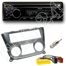 Mueta A4 CD USB SD Radio + Nissan Almera N16 Blende + ISO Adapter+Antenne