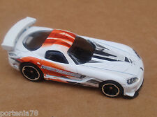 2015 Hot Wheels DODGE VIPER SRT10 ACR 236/250 Drift Race LOOSE White