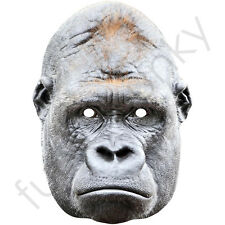 Gorilla Animal Card Mask - All Our Masks Are Pre-Cut!