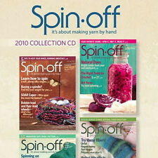 4 Issues on CD: SPIN-OFF MAGAZINE 2010 Ramie Alpaca Bamboo Angora Corriedale