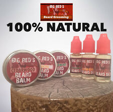 Big Red's Beard Grooming Kit | 3 x 10ml Oil | 3 x 15g Balm | 5 Scents
