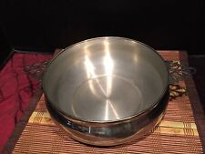 "Silver-Plated Chafing Buffet Warming Pan w/ Decorative Handles 11 1/2""x3 1/8"""