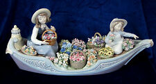 LLADRO  FLOWERS FOREVER BRAND NEW IN BOX #9203 GIRLS IN BOAT UNTOUCHED SAVE$$ FS