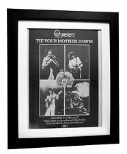QUEEN+Tie Mother Down+POSTER+AD+ORIGINAL 1977+QUALITY FRAMED+EXPRESS GLOBAL SHIP