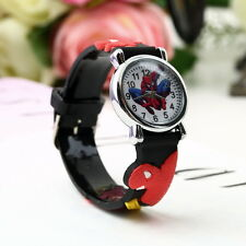 Marvel Cartoon Child Boys Kids Analog Quartz Wrist Watch Rubber UF