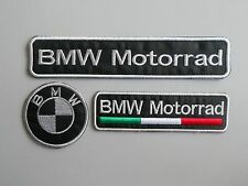 BMW MOTORRAD KIT 3 TOPPE PATCH RICAMATE TERMOADESIVE