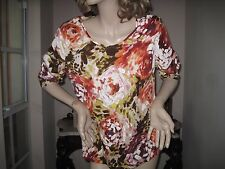 ESCADA exclusively for Neiman Marcus silk floral blouse top -  46 - 12 14 NWOT