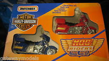 MATCHBOX HARLEY DAVISON MOTOR CYCLE'S HOG RIDERS TWIN  SET   OLD SHOP STOCK