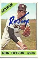 RON TAYLOR HOUSTON ASTROS SIGNED AUTOGRAPHED 1966 TOPPS CARD #174 W/COA