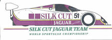 Silk Cut Jaguar,Le Mans /World championchip , sehr !!! seltener alter sticker,