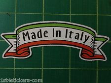 MADE IN ITALY STICKER  GREAT QUALITY FIAT ITALIAN moto guzzi alfa romeo banner