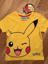 boys POKEMON PIKACHU t-shirt age 5/6 years Official Licensed by Primark