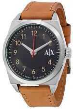 Armani Exchange AX2304 Black Dial Leather Strap Men's Watch