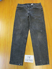 Used 550 relaxed fit black levi's jean tag 38x34 meas 36x33.5 zip12342