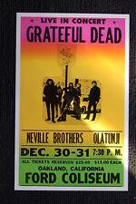 Grateful Dead 60s Poster Ford Coliseum Oakland Californ