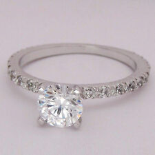 Women 14kt White Gold Rings Diamond Engagement Wedding Ring 1.40Ct Diamond Rings