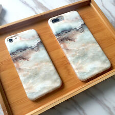 Creative Arts Shockproof Silicone Marble Phone Case Cover For iPhone 7 6 6s Plus