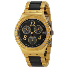Swatch Dreamnight Yellow Chronograph Ladies Watch YCG405G