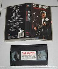 VHS NEIL DIAMOND Greatest hits live 1989 OTTIMO