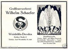 Pyrotechnik Feuerwerk Schaefer Weinböhla Reklame 1928 Erotik Tanz Raketen Feuer