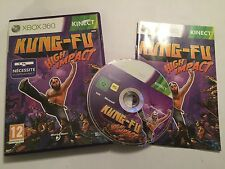 FRENCH XBOX 360 KINECT GAME KUNG-FU HIGH IMPACT +BOX & INSTRUCTIONS COMPLETE PAL