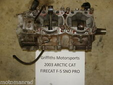 03 04 05 06 ARCTIC CAT FIRECAT F5 500 SNO PRO BOTTOM END CRANK CRANKCASE CASES