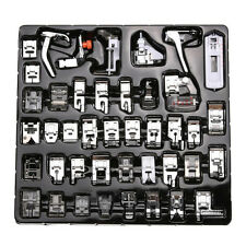 42PCS Domestic Sewing Machine Foot Presser Feet Set For Brother Singer Janome VL