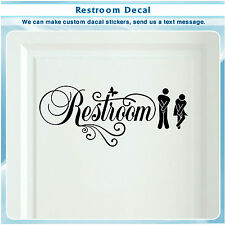 Restroom vinyl Sticker door Bathroom Sign Men Women Restroom Art Decal 067