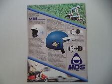 advertising Pubblicità 1982 CASCO HELMET MDS M88 M 88 e APRILIA TRIAL/VESPA
