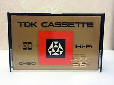 TDK C-60 SD BLANK AUDIO CASSETTE TAPE NEW ULTRA RARE 1968 YEAR JAPAN MADE