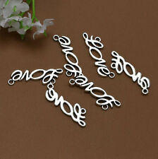 "Wholesale 16pcs Tibet Silver English ""LOVE"" Charm Pendant Beaded Jewelry 136"