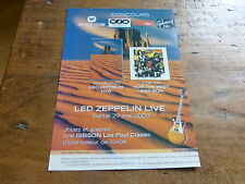 LED ZEPPELIN - Publicité de magazine / Advert LIVE - MAI 2003 !!!!!!!!!