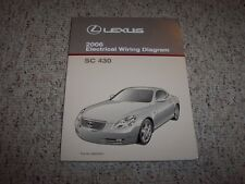 2006 Lexus SC430 SC 430 Factory Original Electrical Wiring Diagram Manual Book