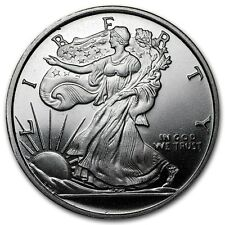 1/2 0,5 oz Walking Liberty Lady Silber Eagle Design Half Dollar 999 Silver AG