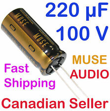 2pcs 220uF 100V 16x35.5mm Nichicon MUSE KZ For Audio Amplifier Stereo WiFi Radio