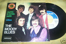 DISQUE 45 TOURS 2 TITRES THE MOODY BLUES ...nights in white satin + 1